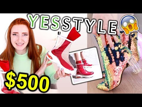 $500 YESSTYLE SHOE HAUL AND TRY ON!!! CHEAP AND ADORABLE JAPANESE & KOREAN SHOES 2019
