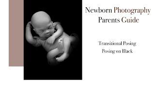 Newborn Photography Transitional Posing, Pose 6 Posing on black