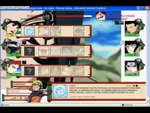 Web Browser Game Review:Naruto-Arena A Deadly Team