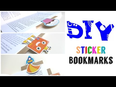 DIY Sticker Bookmarks