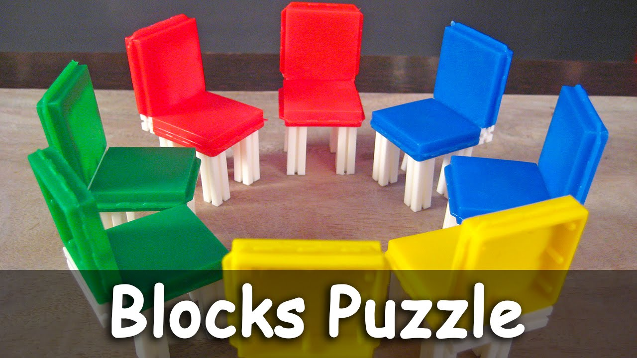 block puzzle indoor games for kids 1 chair making youtube. Black Bedroom Furniture Sets. Home Design Ideas