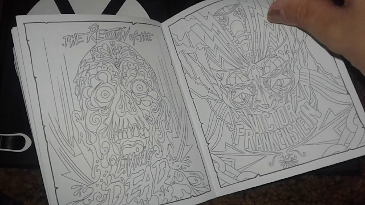 cool adult horror movie coloring book inside movies at walmart - Walmart Coloring Books