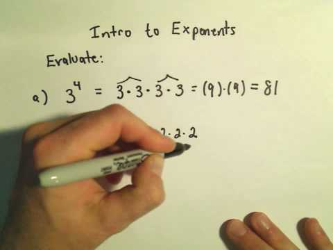Intro to Evaluating Exponents - Basic Problems - Ex2