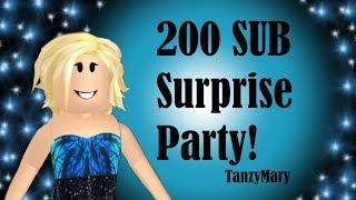 Roblox: Bloxburg 200 Sub Surprise Party y Friend Slideshow