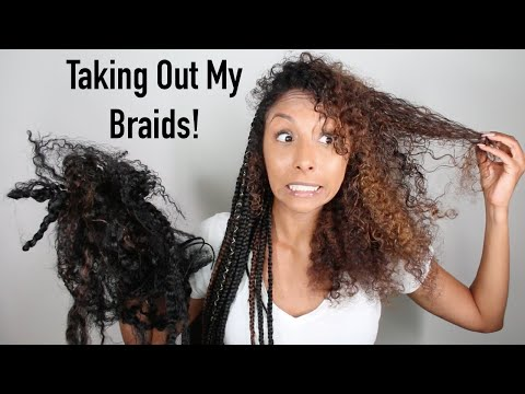 Taking Out My Braids! Braided To Curly Wash Day Routine| BiancaReneeToday
