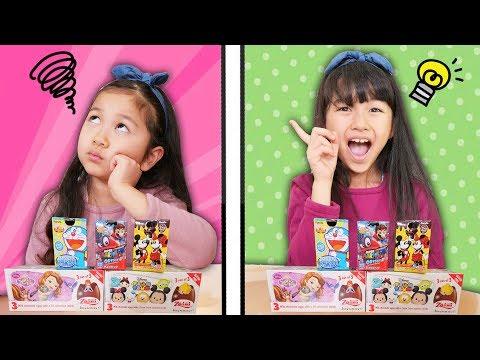チョコエッグシンクロチャレンジ☆シンクロ出来たら開封ルールで何個開けられる??himawari-CH