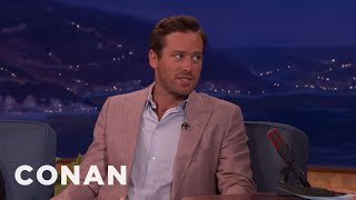 Armie Hammer Treats Road Trips Like Extreme Sports  - CONAN on TBS