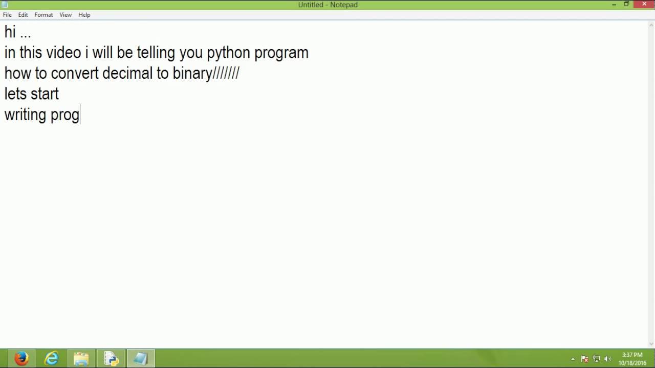 Decimal To Binary Conversion Python Recipes Activestate Code