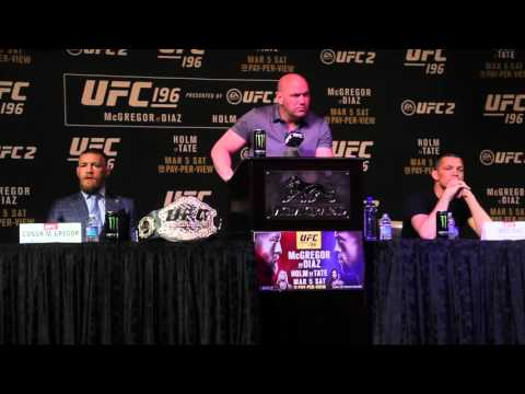 UFC 196: McGregor vs Diaz  Fight Press Conference