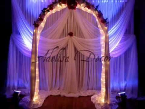 Wedding backdrop decoration ideas youtube junglespirit Image collections