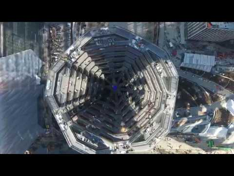 Aerial View of The Vessel at Hudson Yards, New York City