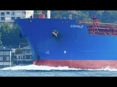 Oil Products Tanker Ship DONALD Passed Fast Bosphorus