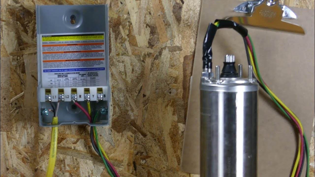 How to Wire a Franklin Electric QD Control Box (131 HP)  YouTube