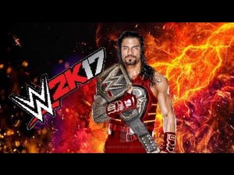 d947521bec WWE 2K17 ROMAN REIGNS RED AND BLACK CUSTOM ATTIRE - YouTube