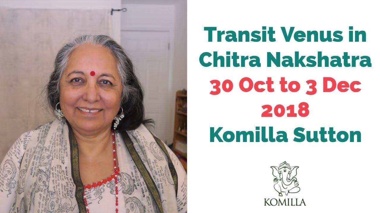 Transit Venus in Chitra Nakshatra: Komilla Sutton