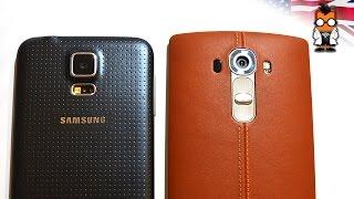 LG G4 vs Samsung Galaxy S5 - Hands On