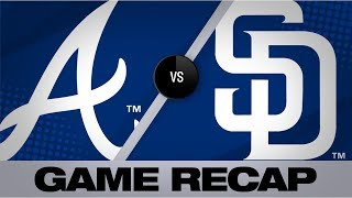 Freeman's HR lifts Braves to 4-1 win | Braves-Padres Game Highlights 7/14/19