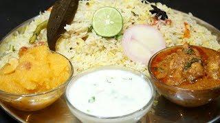 Sunday Special Lunch in 40 minutes    veg biryani    Sweet    Chicken curry    Riata
