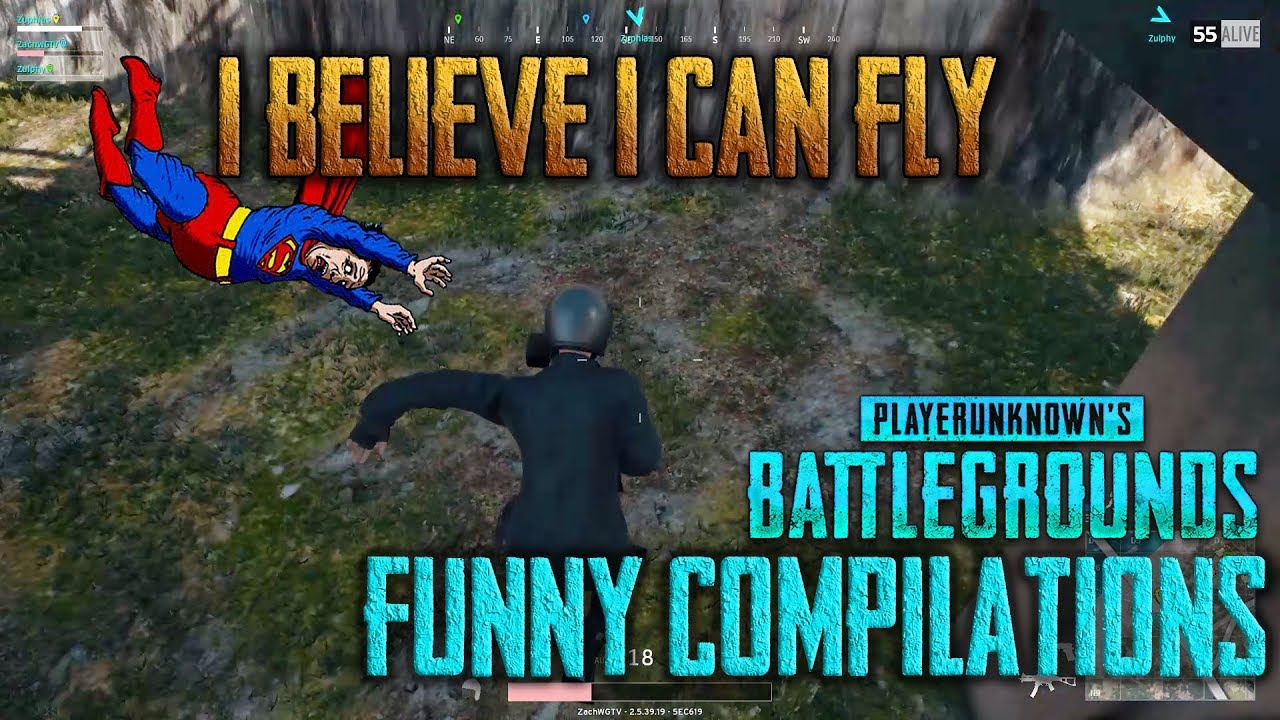 Superman fails to fly | PLAYERUNKNOWN'S BATTLEGROUNDS (Squad Gameplay)