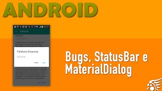 Material Dialog, Correção Bug StatusBar e Ações nos Fragments. Material Design Android - Parte 7
