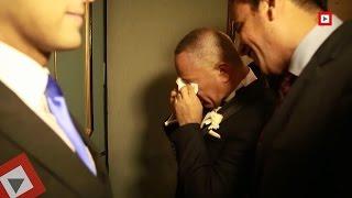 اتفرج| أحمد موسى يبكي في حفل زفاف ابنته