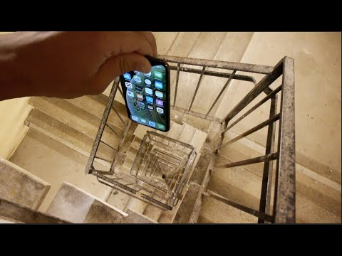 Dropping an iPhone XS Down Crazy Spiral Staircase 300 Feet - Will It Survive?