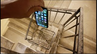 Dropping an iPhone XS Down Crazy Spiral Staircase 300 Feet - Will It Survive? thumbnail