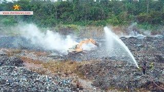Veel werk verzet op vuilnisbelt; nog steeds brandhaarden