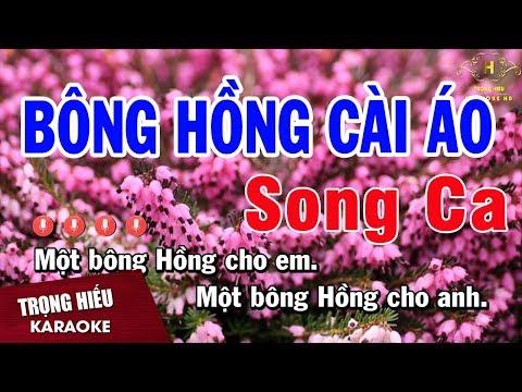 Karaoke Bông Hồng Cài Áo Song Ca Nhạc Sống | Trọng Hiếu