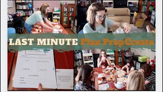 Homeschool Plan Prep Create   The day before our first day of school