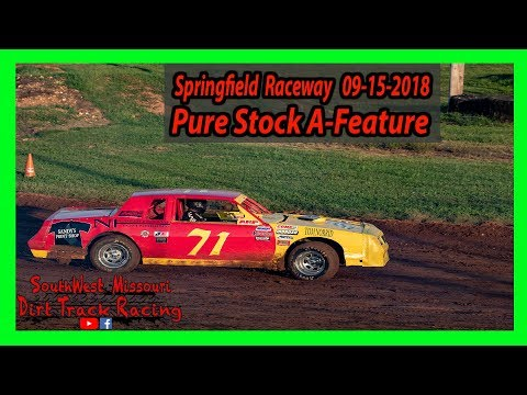 Pure Stock A-Feature - Springfield Raceway 9/15/2018