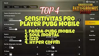 Sensitivitas Pro Player PUBG Mobile PANDA, MORTAL, IZZO, COFFI…
