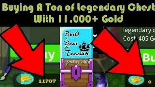 Bought a Ton of Legendary Chest in Build a Boat for Treasure Roblox