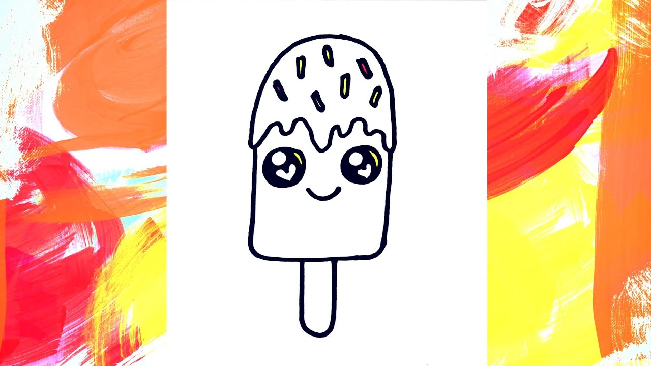 How to draw a cute ice-cream very easy | Drawing for kids ...