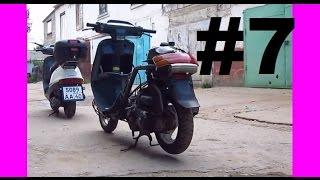 Ta'mirlash scooter Honda Tact 24. Qismi 7. Motor HF05E Yig'ish (1-Qism)