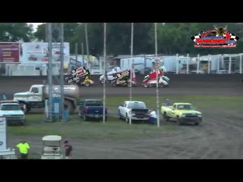 River Cities Speedway NOSA Sprint Car Heats (8/31/18)