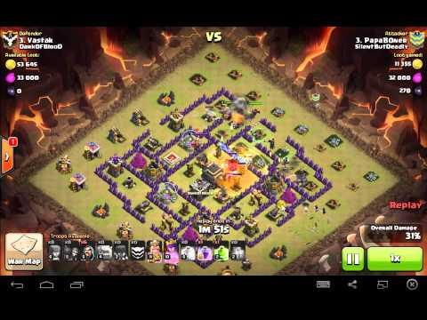 papaboner 2star attack on TH9 ringus
