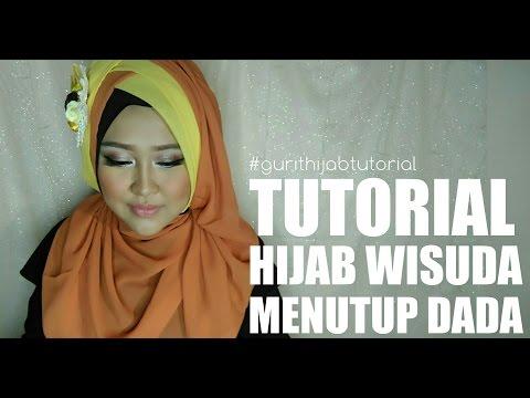 Tutorial Hijab Segi Empat Pesta dan Wisuda Modern Dengan Hijab Bella Square Simple Kekinian #MFI.