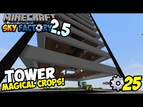 TOWER MAGICAL CROPS!!! ~ Minecraft Sky Factory Indonesia ep. 25