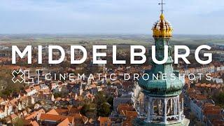 Middelburg (Zeeland) van boven | Drone video in 4K