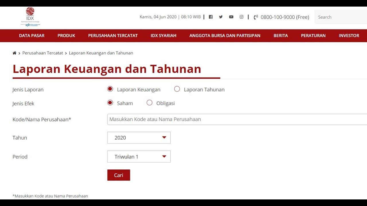 Cara Download Laporan Keuangan Di Idx Gratis Youtube