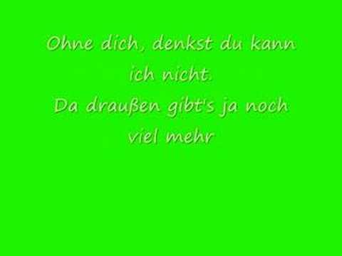 killerpilze- Ich kann auch ohne dich with lyrics