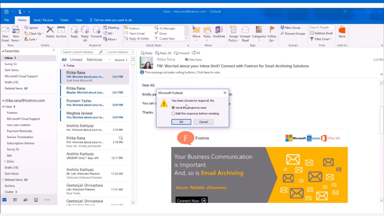 Polls On Email Is The Best Feature Of Outlook 2016 With Office 365