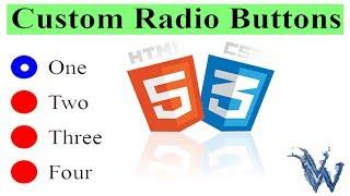 Custom Radio Button Bootstrap | Attractive Radio Button In HTML By Amazing Techno Tutorials