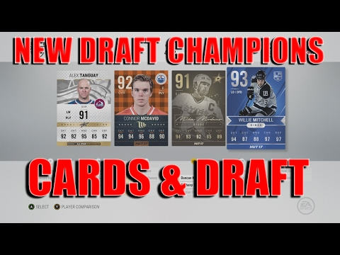 NHL 17 New Draft Champions Cards and Draft