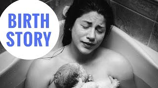 MY BIRTH STORY | 31 hours, birthing center, water birth, hypnobirthing, positive | Sarah Beth Yoga