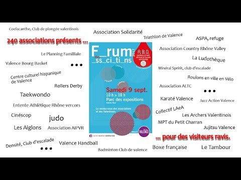 Forum des Associations de Valence Septembre 2017