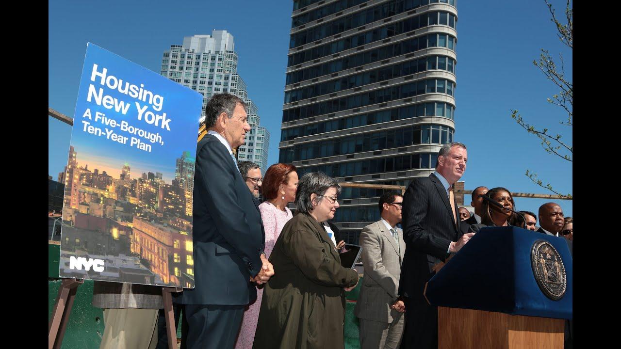 "mayor de blasio unveils "" housing new york"" youtube"