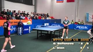 Olga Baranova -  Li Qian  ETTU CUP 2014/2015 1/2 (WOMEN) Настольный Теннис