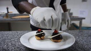 COOKING CLASS with Pastry Chef Antonio - Profiteroles   GRAND HOTEL DJIBLOHO